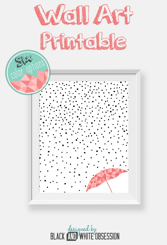 Free Printable: Rain And Snow Wall Art | All Things Thrifty With Free Printable Wall Art (View 6 of 20)