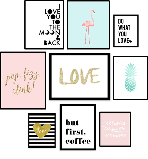 Free Printables / Wall Art : 10 Affiches Pour Changer De Déco Pertaining To Teen Wall Art (Image 9 of 25)