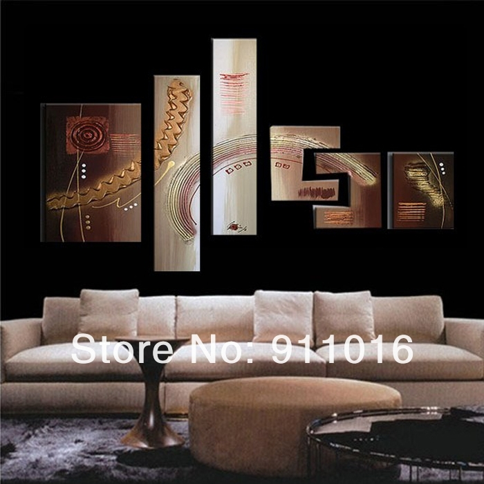 Free Shipping 100%handmade Textured Modern Oil Painting On Canvas Regarding Cheap Large Wall Art (Image 12 of 25)