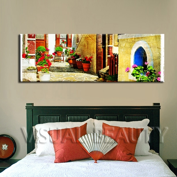 Free Shipping Beautiful Inexpensive Wall Decoration Canvas Art Oil Throughout Inexpensive Wall Art (Image 10 of 20)