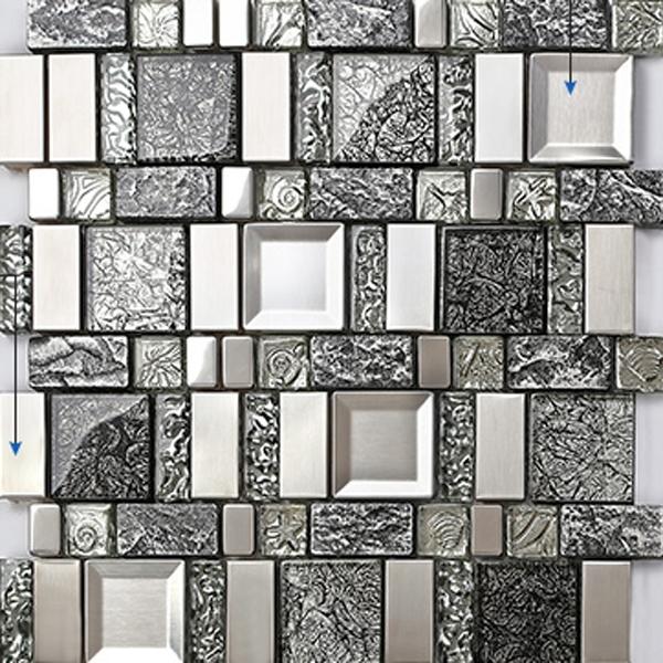 Free Shipping Ceramic Wall Art Kitchen Mosaic Tile Black Matel With Regard To Ceramic Wall Art (View 24 of 25)