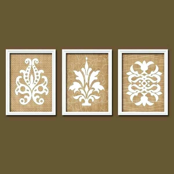 French Country Wall Art Country Wall Decor Lovely Damask Wall Art Throughout Country Wall Art (View 14 of 25)