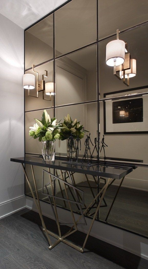 Fun And Creative Ideas Of Wall Mirrors In The Hallway   Home Ideas Inside Mirrored Wall Art (View 13 of 20)