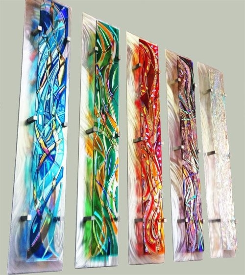 "Fused Glass Wall Artfrank Thompson ""odyssey Series"" 