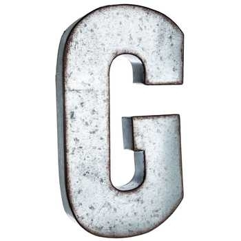 Galvanized Metal Letter Wall Decor – G | Hobby Lobby | 138543 Intended For Metal Letter Wall Art (View 23 of 25)