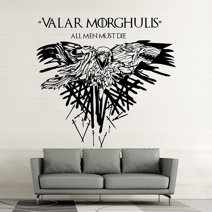 Game Of Thrones Valar Morghulis Vinyl Wall Art Decal For Wall Art For Men (Image 5 of 10)