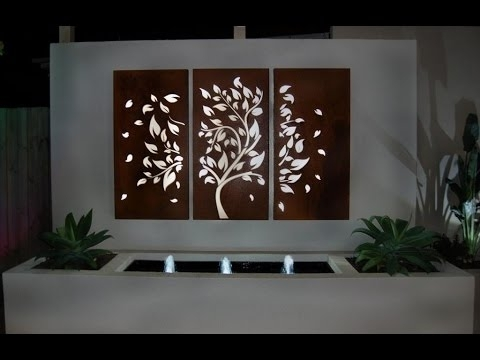 Garden Wall Art # Fleur De Lis Outdoor Wall Decor – Youtube Inside Outdoor Wall Art (View 4 of 10)
