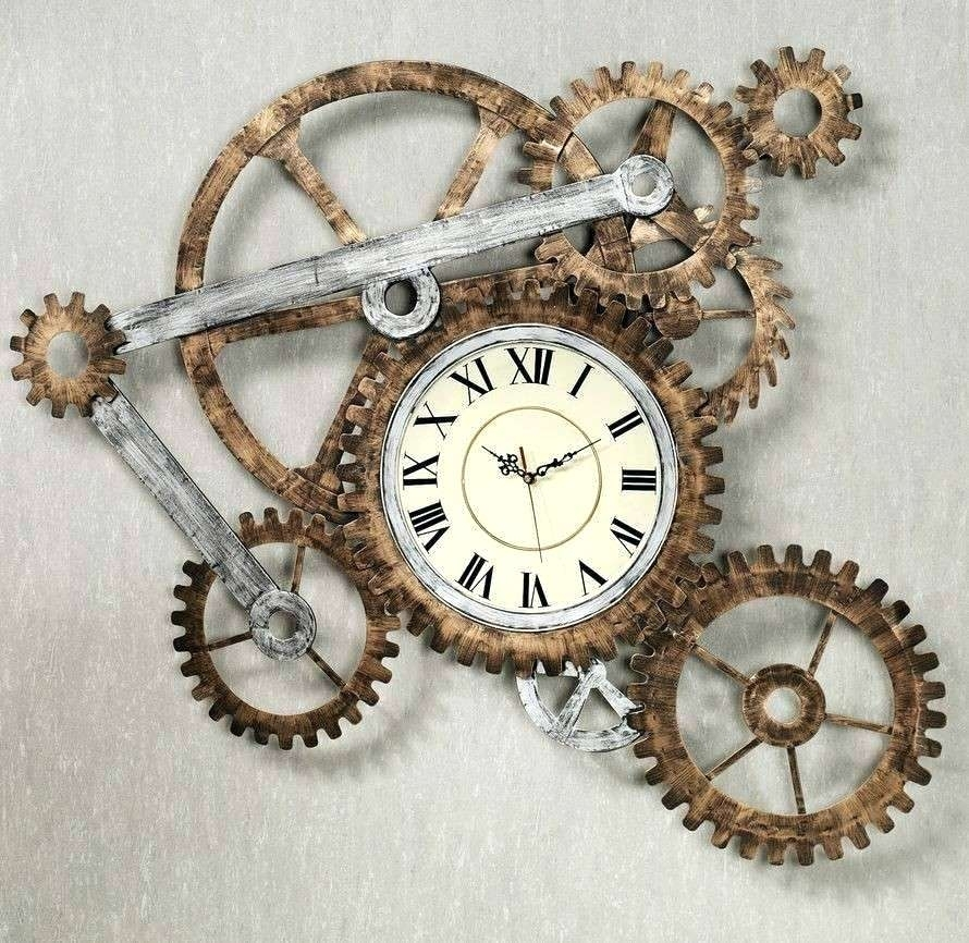Gear Wall Art Steampunk Wall Decor Awesome Gear Wall Art Home Decor Regarding Steampunk Wall Art (View 19 of 25)