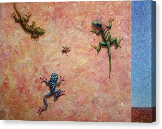 Gecko Canvas Prints | Fine Art America Throughout Gecko Canvas Wall Art (View 5 of 20)