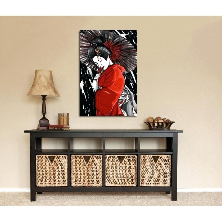 Geisha Canvas Wall Art – Chastaintavern (Image 2 of 25)