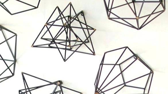 Geometric Metal Wall Art Custom Made Geometric Metal Wall Sculpture With Regard To Geometric Metal Wall Art (View 21 of 25)