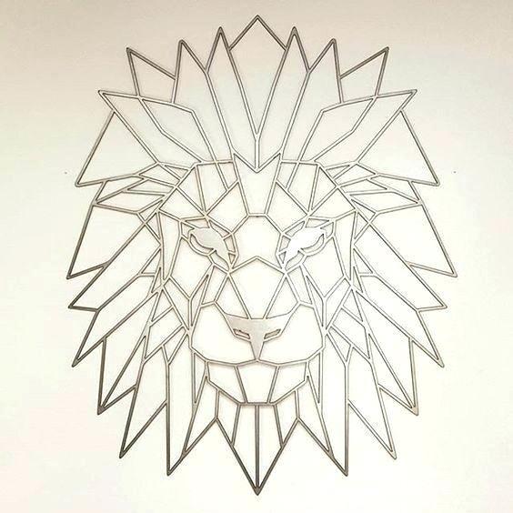 Geometric Wall Art Geometric Wall Art Ideas Lion Metal And Lions For Geometric Metal Wall Art (View 5 of 25)