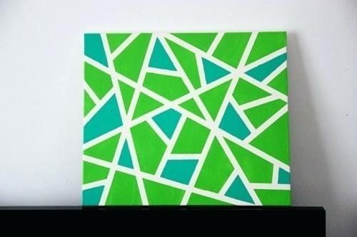 Geometric Wall Design Easy Geometric Canvas Wall Art Via Geometric Regarding Geometric Wall Art (View 17 of 20)