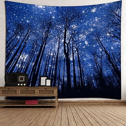 Get Orange Wall Tapestry Beautiful Night Sky Wall Art Home Decor Regarding Orange Wall Art (View 25 of 25)