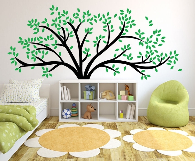 Giant Family Tree Wall Sticker Vinyl Art Home Decals Room Decor Intended For Family Tree Wall Art (View 8 of 10)