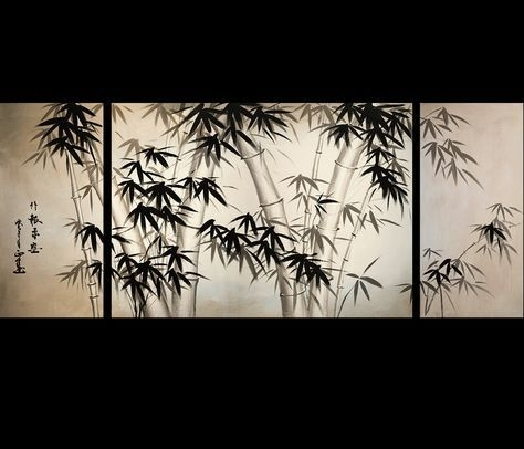 Giclee Artwork Canvas Art Fine Art Prints Wall Art Japanese Bamboo Within Japanese Wall Art (Image 5 of 20)