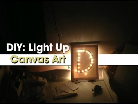 Gift Idea: Diy Light Up Canvas Art – Youtube Inside Light Up Wall Art (View 21 of 25)