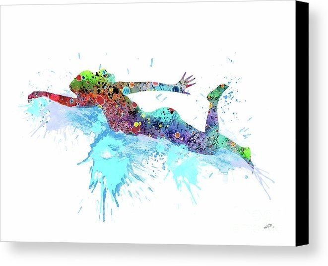 Girl Swimming Watercolor Print Swimming Art Swimming Poster Sports In Sports Wall Art (View 25 of 25)