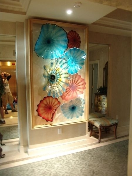 Glass Beverly Albrets Blown Glass Wall Art~ Tropicalglassdesigns With Glass Wall Art (Image 6 of 10)
