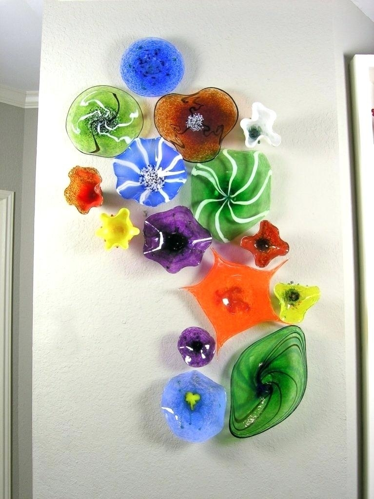 Glass Flower Wall Art Blown Glass Flower Wall Art Glass Art Blown In Blown Glass Wall Art (Image 12 of 25)