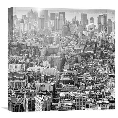 Global Gallery Aerial View Of Manhattan Nyc Wall Art – Gcs 456514 For Nyc Wall Art (Image 6 of 25)