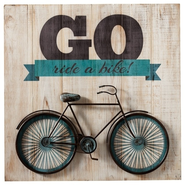 "Go Ride A Bike"" Bicycle Wall Art - Contemporary - Kids Toys And inside Bicycle Wall Art"