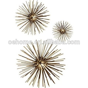 Gold Metal Spider Round Wall Art Set Of 3 – Buy Metal Round Wall Art Intended For Round Wall Art (Image 7 of 25)