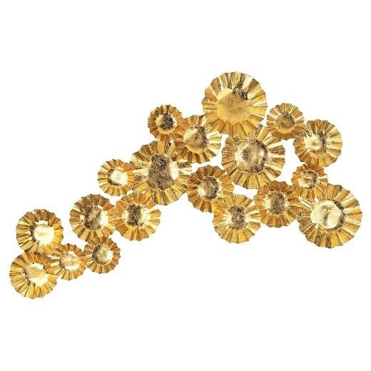 Gold Metal Wall Art Glamorous Magnificent 30 Within Plan 10 Regarding Gold Metal Wall Art (View 10 of 10)