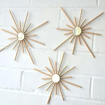 Gold Starburst Wall Decor Best Sunburst Wall Art Products On Intended For Starburst Wall Art (View 12 of 25)