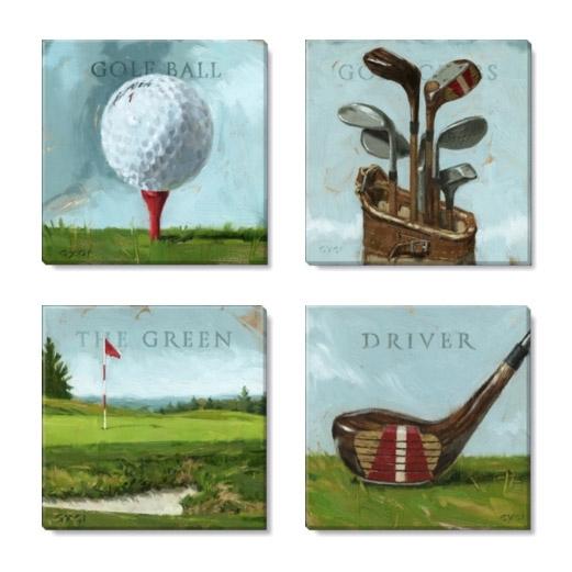 Golf Canvas Art Print Set In Golf Canvas Wall Art (View 11 of 25)