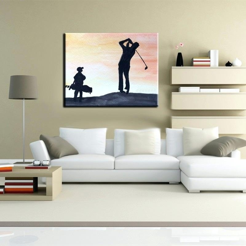 Golf Canvas Art Professial Golf Wall Canvas – Sonimextreme For Golf Canvas Wall Art (View 17 of 25)