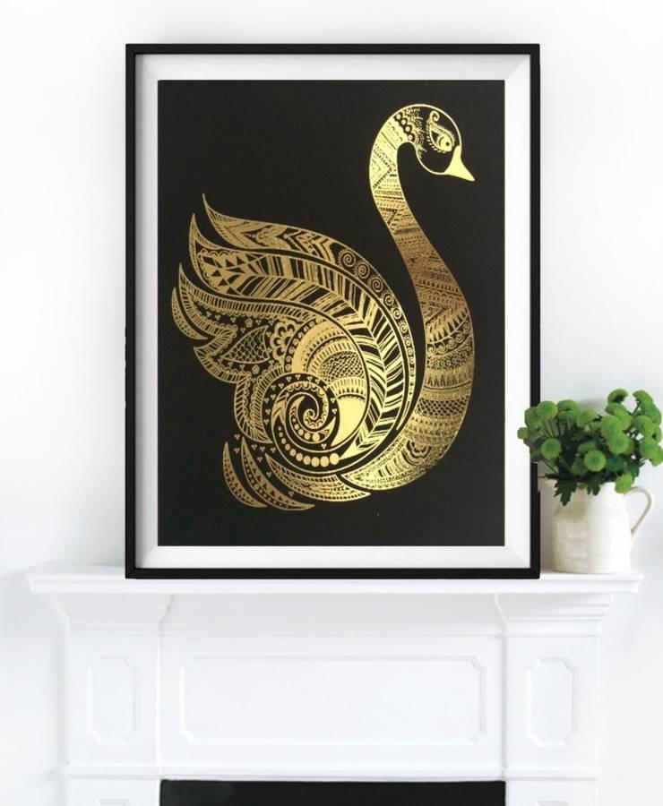 Grace, Gold Foil Framed Artpalm Valley | Notonthehighstreet Throughout Gold Foil Wall Art (View 11 of 25)