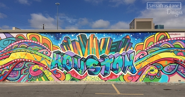 Graffiti Walls In Eado Houston – Sassafras Lane Designs Throughout Houston Wall Art (Image 6 of 25)