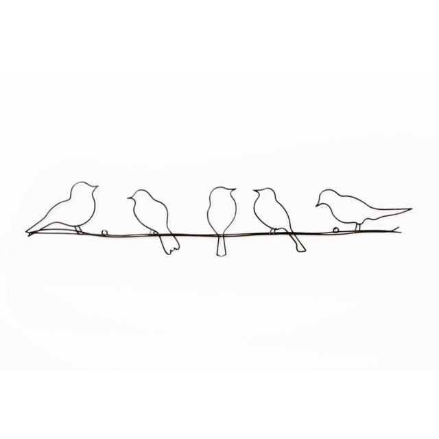 Graham & Brown Birds On A Wire Wall Art 60 X 13Cm | Ebay With Regard To Wire Wall Art (Image 11 of 25)