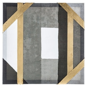 Gray, Black & Gold Panel Canvas Wall Art From Hobby Lobby Within Black And Gold Wall Art (Image 19 of 25)