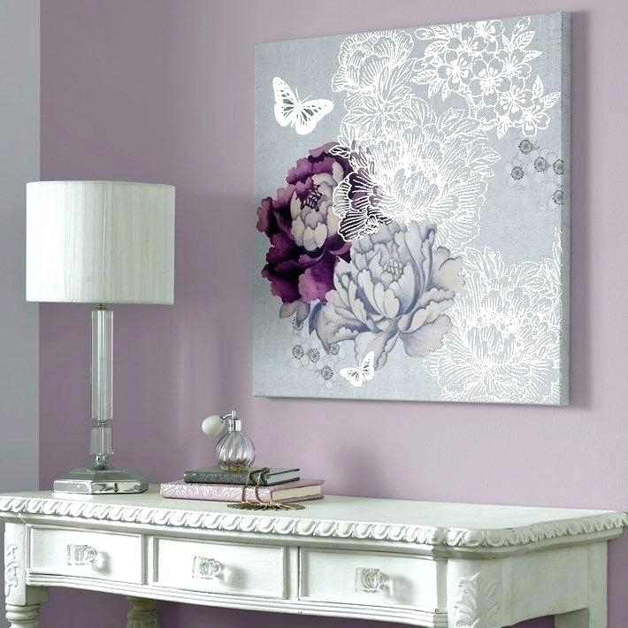 Gray Wall Decor Simple Contemporary Metal Wall Art Decor Gray Intended For Purple And Grey Wall Art (View 23 of 25)