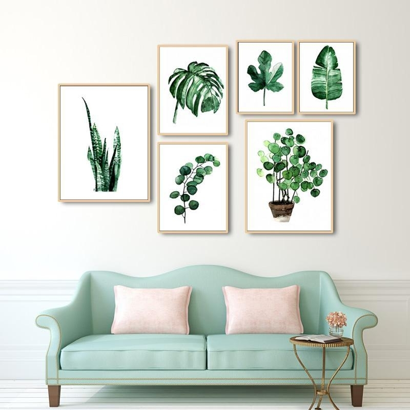 Green Leaves Canvas Prints | Products | Pinterest | Framing Canvas in Wall Art Prints