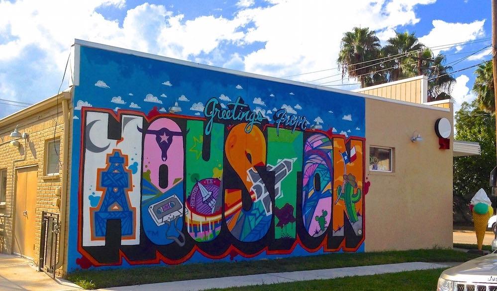Greetings From Houston Mural Location | 365 Houston regarding Houston Wall Art