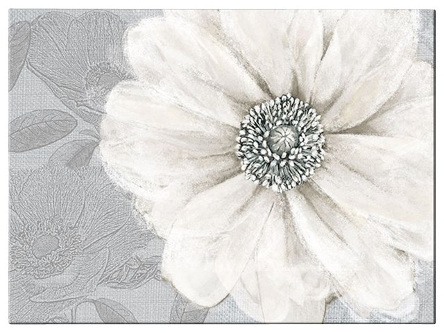 Grey Bloom Canvas Wall Art – Contemporary – Artwork Graham & Brown For Grey And White Wall Art (View 4 of 25)