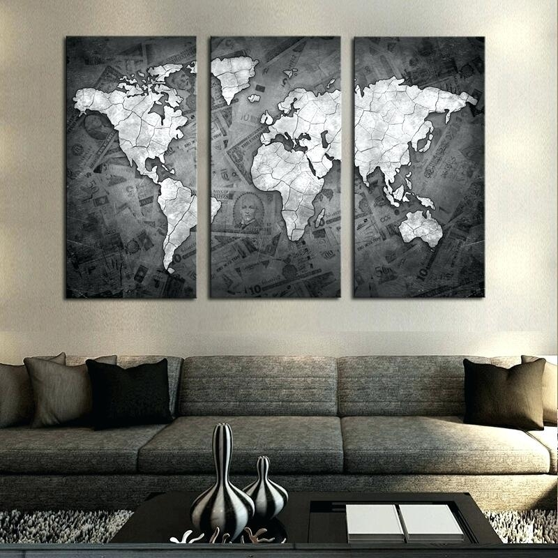 Grey Canvas Wall Art Featured Image Of Grey Canvas Wall Art Purple With Grey Wall Art (View 13 of 25)