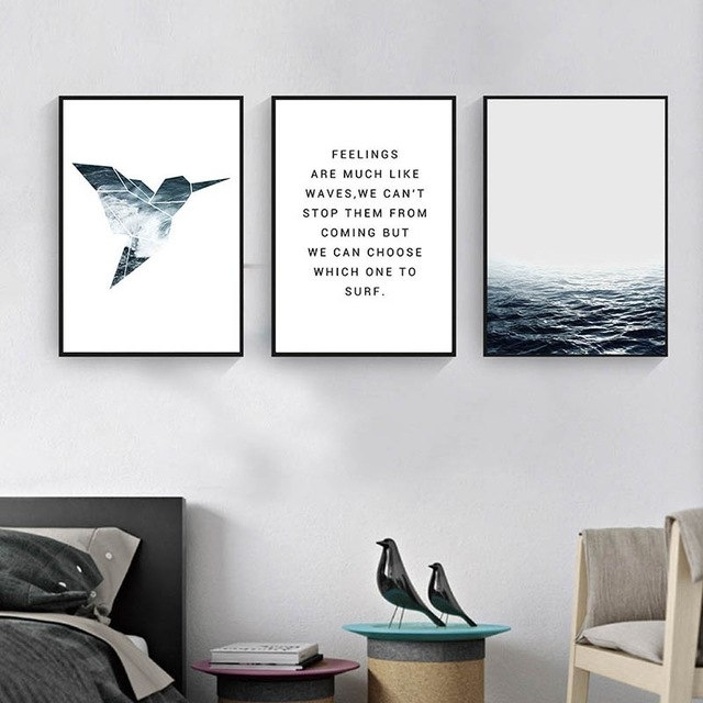 Gzcjhp Tropical Sea Bird Motivational Wall Art Canvas Nordic Posters Throughout Motivational Wall Art (Image 9 of 25)
