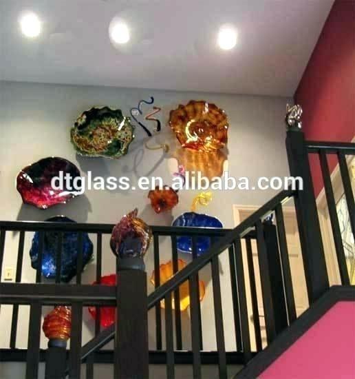 Hand Blown Glass Plates Glass Plates Wall Art Plates Wall Art Modern Intended For Glass Plate Wall Art (View 16 of 20)