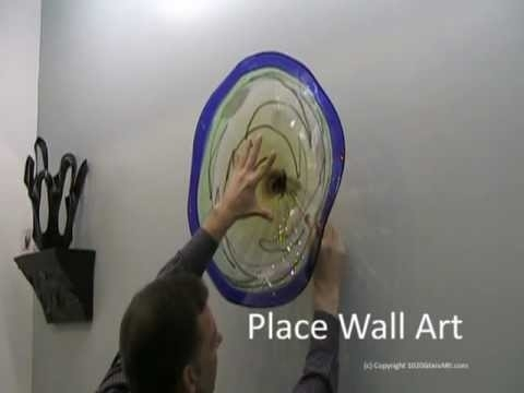 Hand Blown Wall Art Glass Plate Install From 1020 Glass Art – Youtube Intended For Glass Plate Wall Art (View 9 of 20)