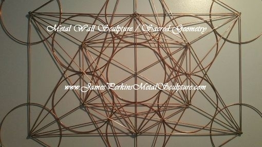 Hand Crafted Geometric Metal Wall Sculpture / Metal Wall Art Regarding Geometric Metal Wall Art (View 7 of 25)