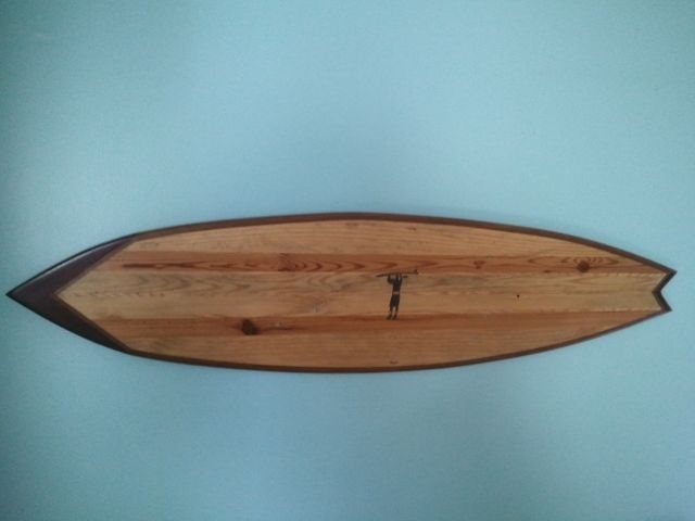 Hand Crafted Large Surfboard Wall Art W Added Designgood Surf For Surfboard Wall Art (Image 6 of 25)