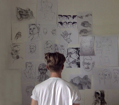 Hand Drawn Wall Art | Tumblr With Regard To Tumblr Wall Art (Image 8 of 20)