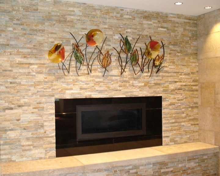 Hand Made Blown Glass, Fused Glass And Metal Wall Artbonnie M With Regard To Blown Glass Wall Art (View 7 of 25)