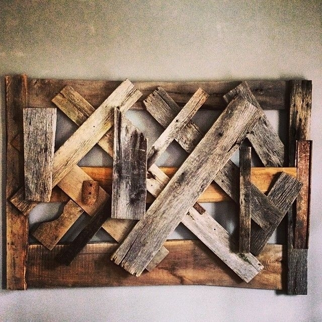 Hand Made Reclaimed Wood Wall Artausden Inc | Custommade Regarding Personalized Wood Wall Art (Image 7 of 25)
