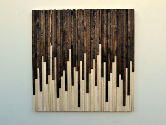 Hand Made Wood Wall Art – Reclaimed Wood Art Sculpturemodern With Regard To Wood Art Wall (View 11 of 20)