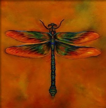 Featured Image of Dragonfly Painting Wall Art